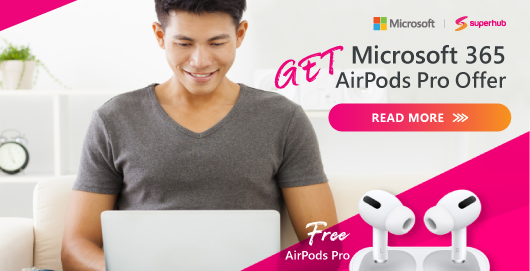 Microsoft 365 AirPods Pro Offer