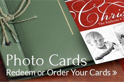 Redeem or order your photo cards
