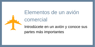 elementos avión comercial