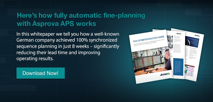 Asprova Fully automatic detailed planning with APS