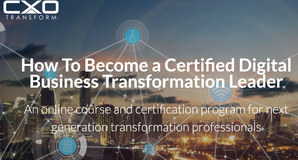 Digital Transformation Online Course and Certification Programme