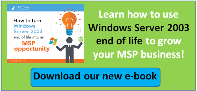 Windows Server 2003 end of life opportunity