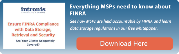 Ensure FINRA Compliance and Data Storage, Retrieval and Security whitepaper