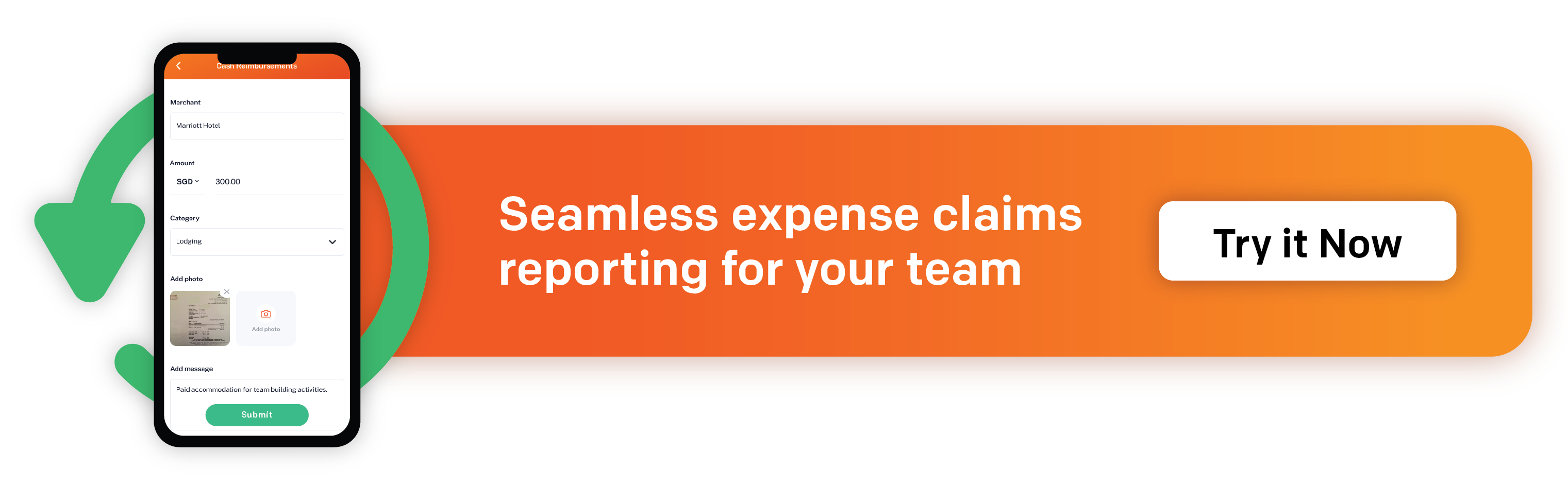 Seamless expense claims reporting for your team. Try it with Spenmo