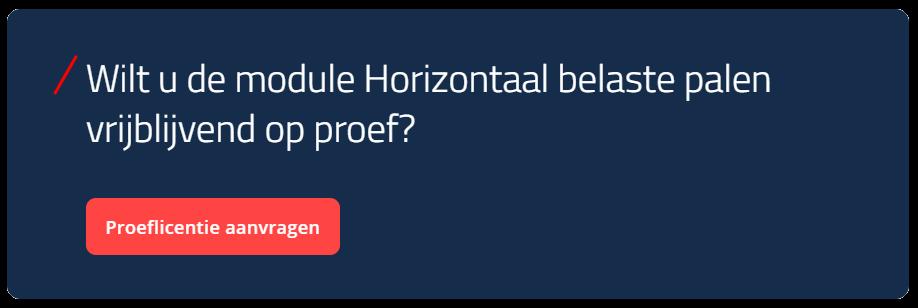 Proeflicentie aanvragen van module horizontaal belaste palen