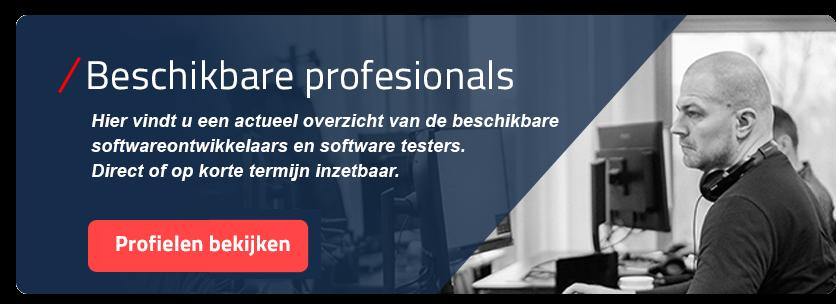 Beschikbare softwareontwikkelaars