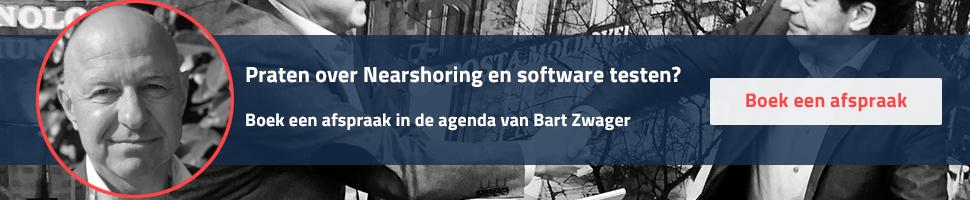 Maak een afspraak met Bart Zwager, specialist in Nearshoring en software testen