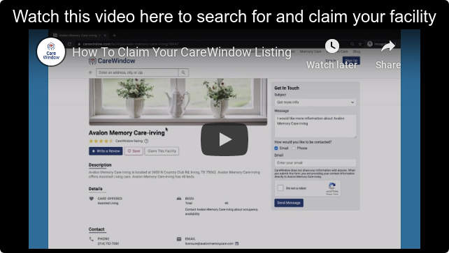 Watch this video here to search for and claim your facility