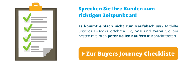 Die Checkliste zur Buyers Journey
