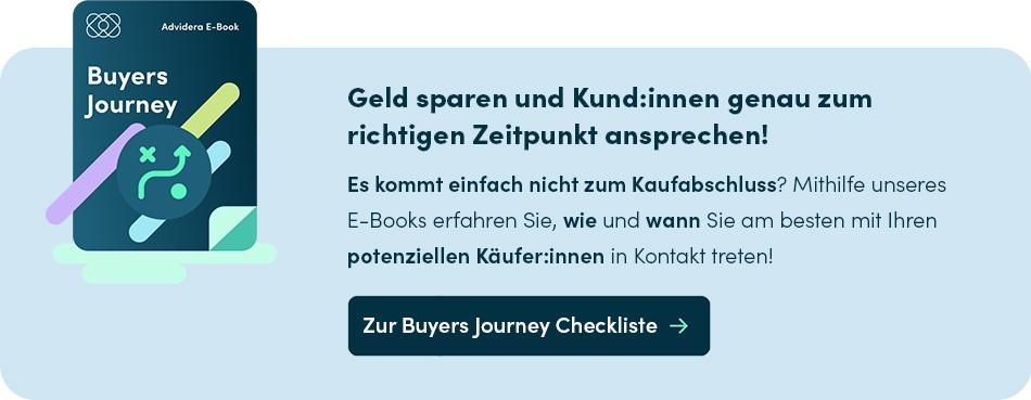 Die Checkliste zur Buyers Journey