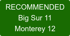 RECOMMENDED  Big Sur 11 Catalina 10.15