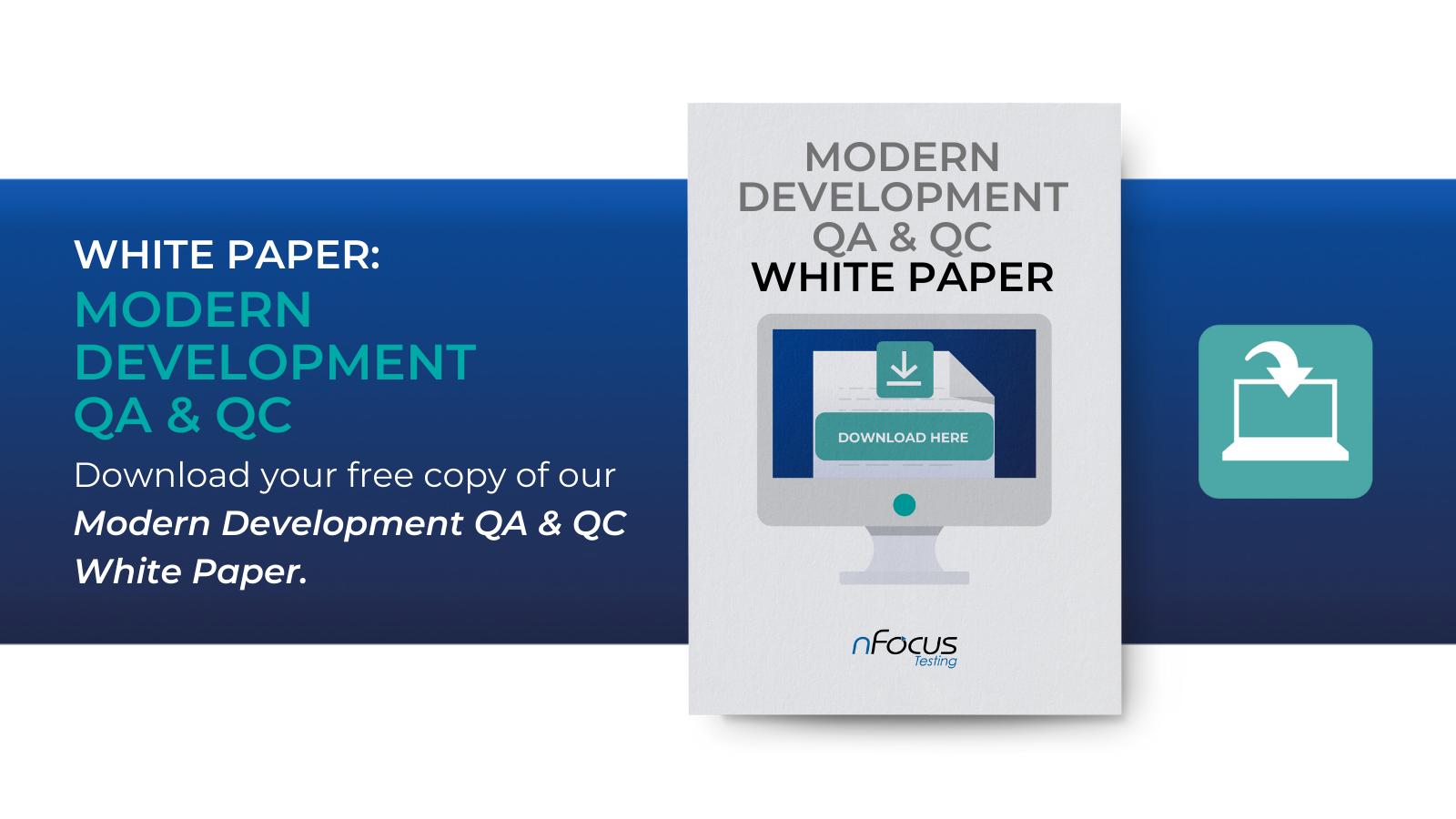 Modern Development QA & QC