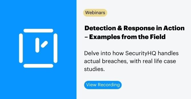 Detection & Response in Action – Examples from the Field