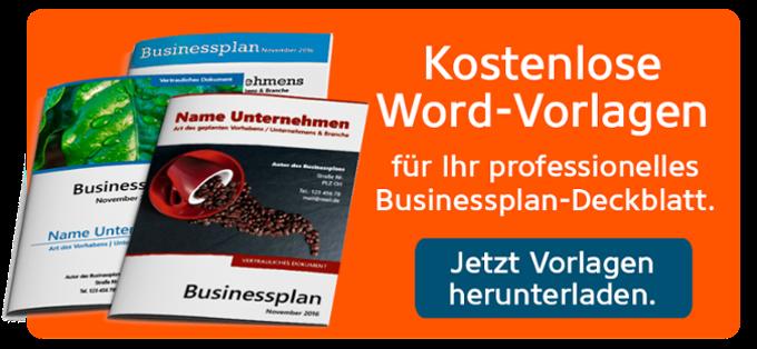 Gründerschiff Businessplan-Deckblatt Vorlagen
