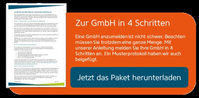 GmbH anmelden in 4 Schritten
