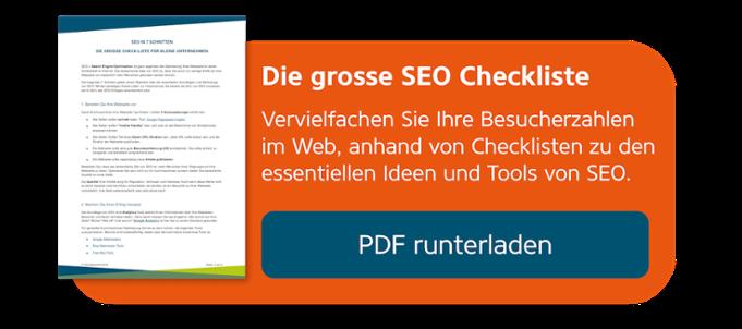 Checkliste für Suchmaschinenoptimierung SEO