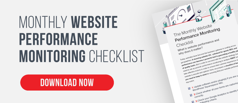 Monthly website performance Monitoring checklist