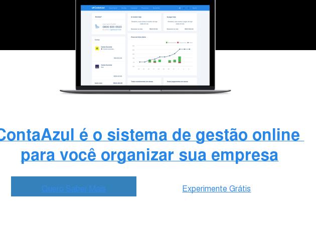 <https://universidade.contaazul.com/lp-quero-receber-ligacao?utm_source=modal4_webinar&amp;utm_medium=cta_modal4_webinar&amp;utm_campaign=modal4_webinar_img>  Pronto para retomar o controle de sua empresa? A gente pode ajudar.  ContaAzul é um sistema de gestão online que integra comercial, financeiro e  nota fiscal   <https://universidade.contaazul.com/lp-quero-receber-ligacao?utm_source=modal4_webinar&amp;utm_medium=cta_AB_modal4_webinar&amp;utm_campaign=modal4_webinar_text>  Ver Mais Cursos   <https://universidade.contaazul.com/lp-quero-receber-ligacao?utm_source=modal4_webinar&amp;utm_medium=cta_AB_modal4_webinar&amp;utm_campaign=modal4_webinar_cta_go>  Quero Falar com um Especialista ✆  <https://universidade.contaazul.com/lp-quero-receber-ligacao?utm_source=modal4_webinar&amp;utm_medium=cta_AB_modal4_webinar&amp;utm_campaign=modal4_webinar_cta_app>