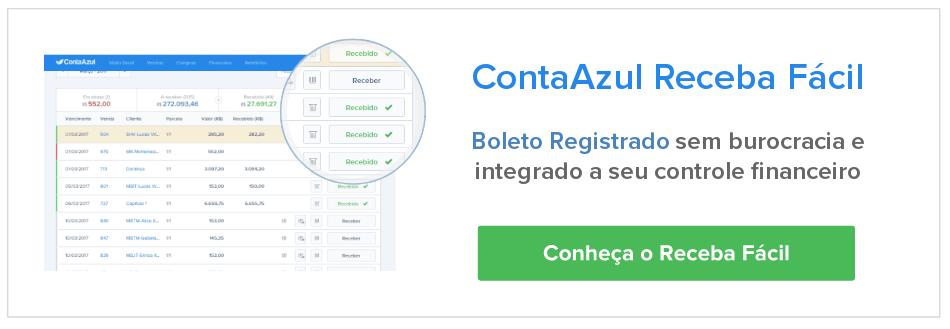 ContaAzul é um sistema de gestão para pequenas empresas, com emissão de boleto integrado