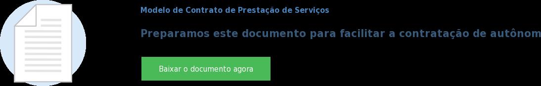 Modelo de Contrato de Prestação de Serviços  Preparamos este documento para facilitar a contratação de autônomos e terceiros Baixar o documento agora