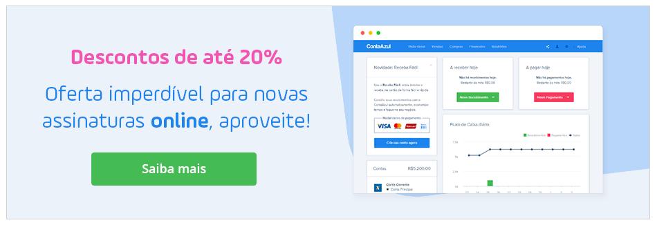 Descontos de até 20% para novas assinaturas online