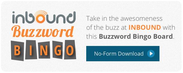 INBOUND 2013 buzzword bingo