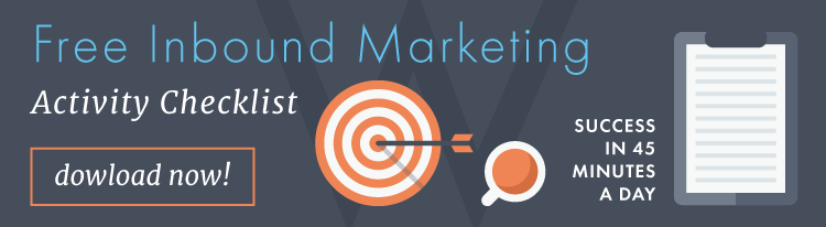 Free inbound marketing activity checklist