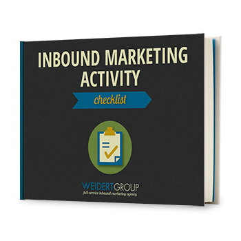 Inbound Marketing Activity Checklist