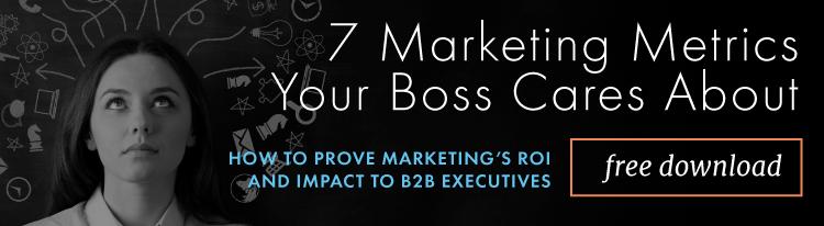 Marketing Metrics B2B Executives Care About