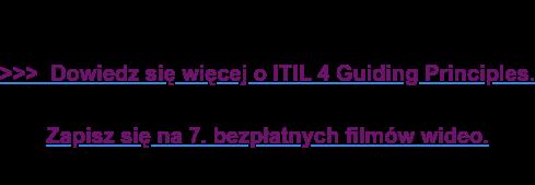 >>> Dowiedz się więcej o ITIL 4 Guiding Principles.  Zapisz się na 7. bezpłatnych filmów wideo.