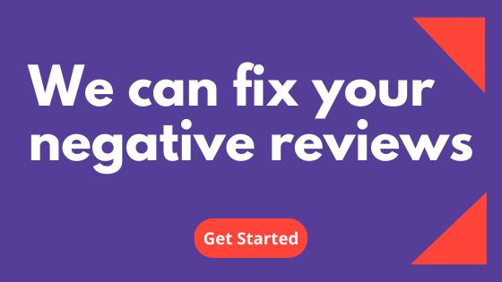 fix negative reviews