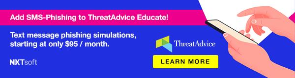 Add SMS-Phishing to ThreatAdvice Educate!