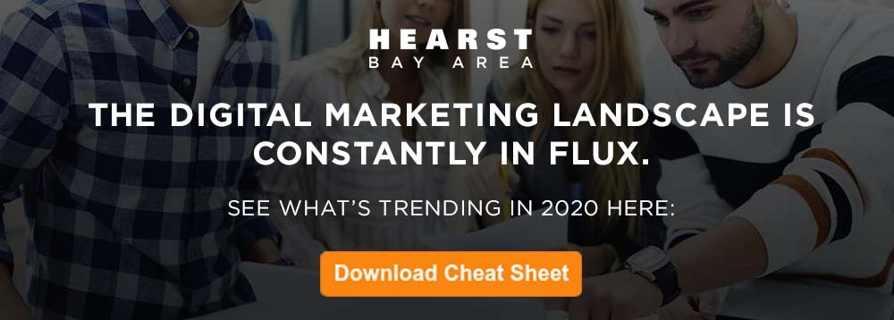 Download the Hearst Bay Area Digital Marketing Trends for 2020 Cheat Sheet