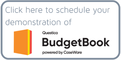 Schedule a demonstration of Questica Budget Book powered by CaseWare
