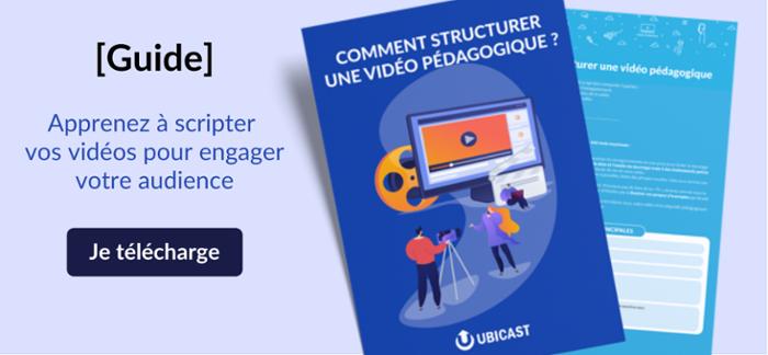 Guide pour structurer une vidéo pédagogique