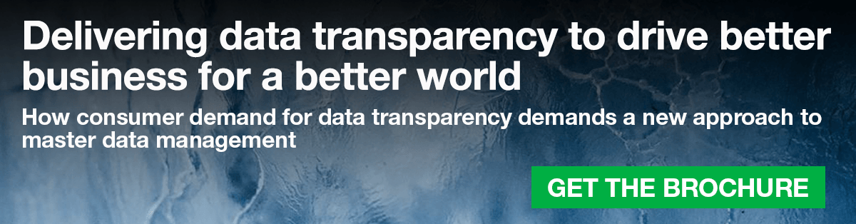 Delivering data transparency to drive better business for a better world
