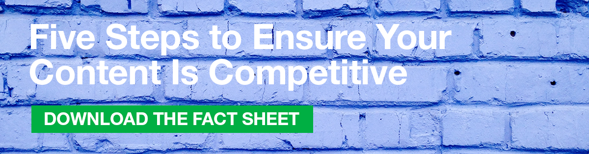 Five Steps to Ensure Your Content Is Competitive