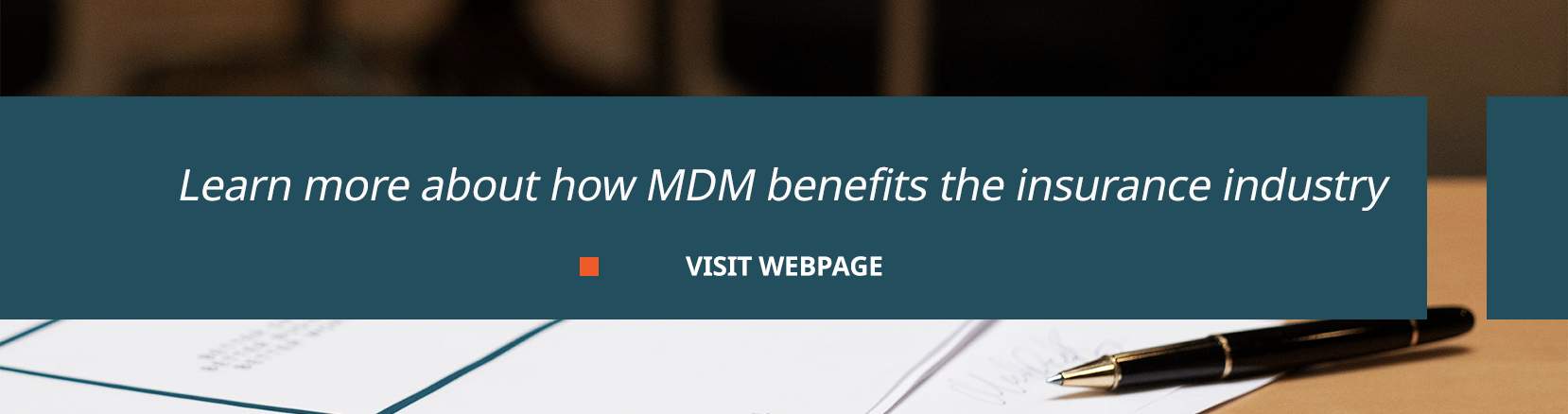 how mdm benefits the insurance industry