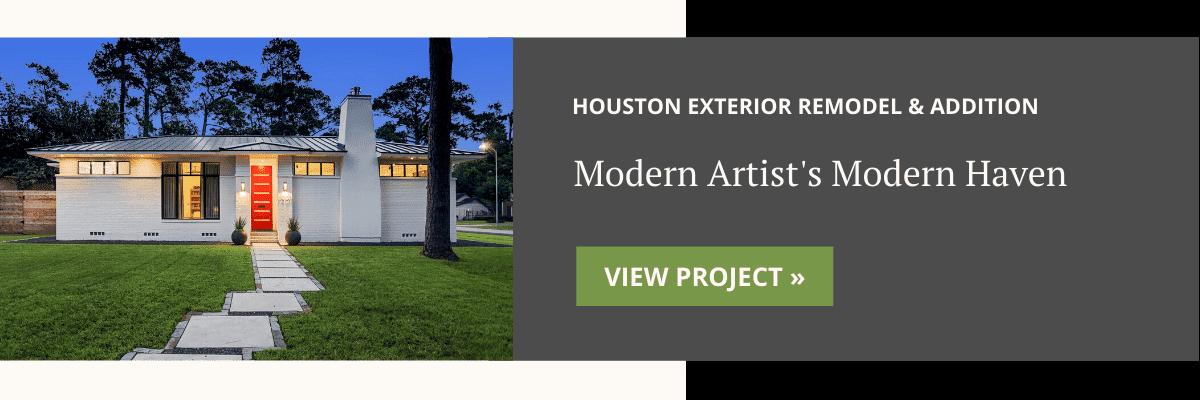 Houston Modern Exterior Remodel & Addition