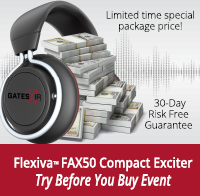 Flexiva FAX 50 Compact Exciter Try Before You Buy Event - Click Here to Learn More
