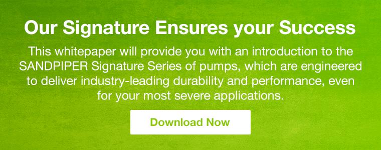 Download SANDPIPER Signature Series of Pumps Whitepaper