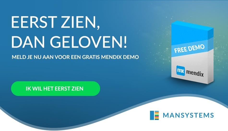 Meld je aan voor een gratis Mendix Demo