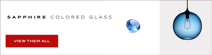 Sapphire Colored Glass
