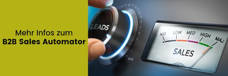 Weitere Informationen zum B2B Sales Automator finden Sie hier: