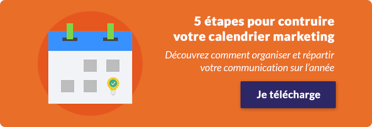 Infographie calendrier marketing