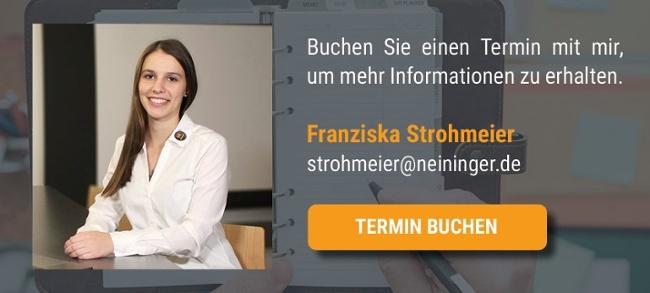 Termin vereinbaren mit Franziska Strohmeier