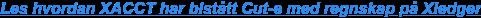 Les hvordan XACCT har bistått Geomatikk med regnskap på Xledger