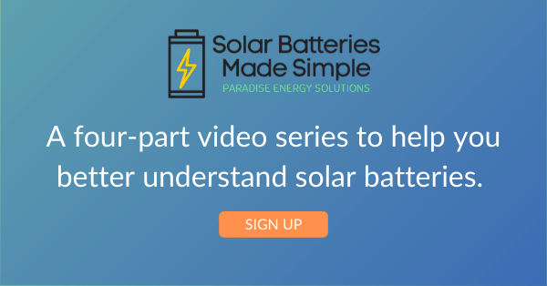 Solar Batteries Made Simple Video Series Graphic