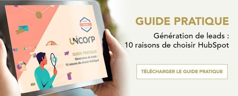 Guide pratique | Génération de leads : 10 raisons de choisir Hubspot
