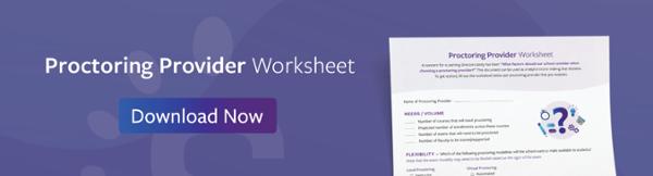 Proctoring Provider Worksheet Download